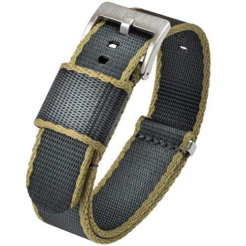 20mm Slate Grey Jetson NATO Style Watch Strap