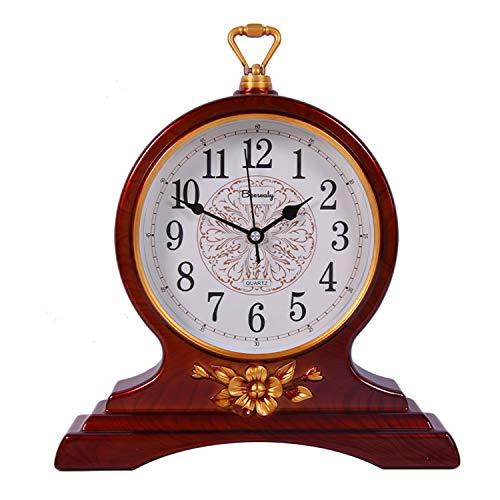Beesealy Mantel Clock, 12-Inch Mantel Clock, Silent Movement