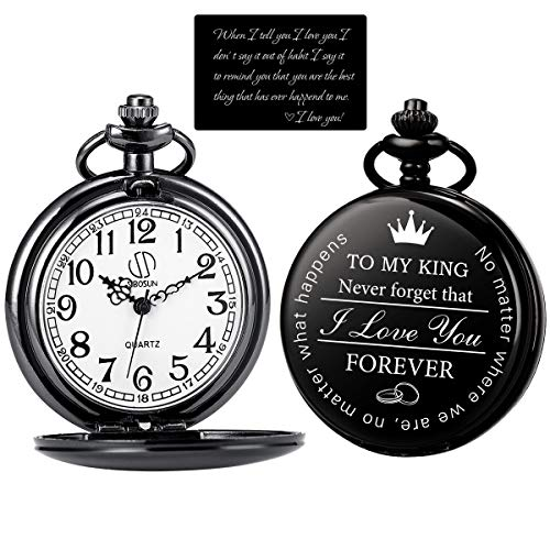 SIBOSUN Pocket Watch for Men Who Have Everything Birthday Gifts