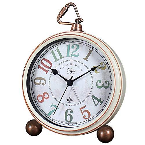 Non-Ticking Mantel Clock Alarm Clocks Easy to Read Large