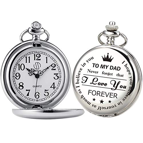 Personalized Silver Chain Pocket Watch Engraved