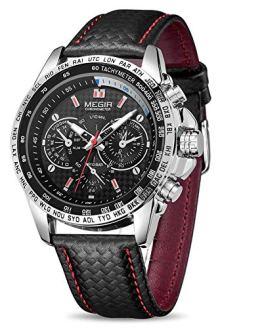 MEGIR Men Analog Luminous Casual Fashion Quartz Watch