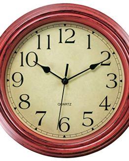 Wall Clock Non-Ticking Round Classic Clock Retro Quartz