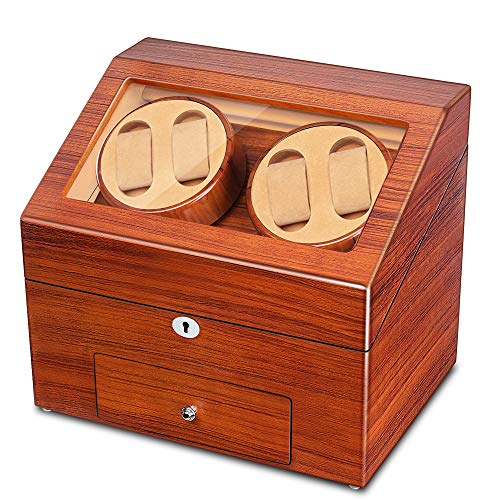 Automatic Wood Watch Winder Display Box Storage
