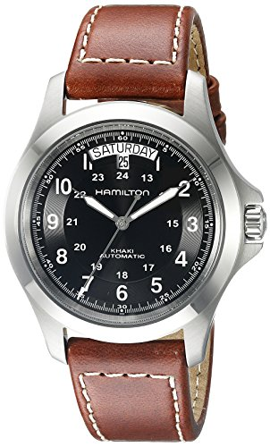 Automatic Watch Hamilton Men's Khaki King Brown Leather Band