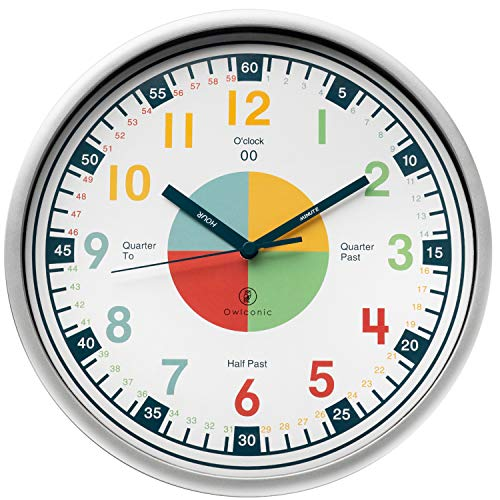Owlconic Telling Time Teaching Clock - Kids Room