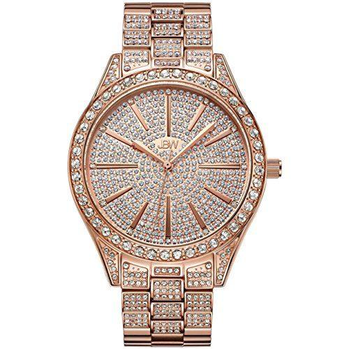 Diamond Wrist Watch with Stainless Steel Link Bracelet
