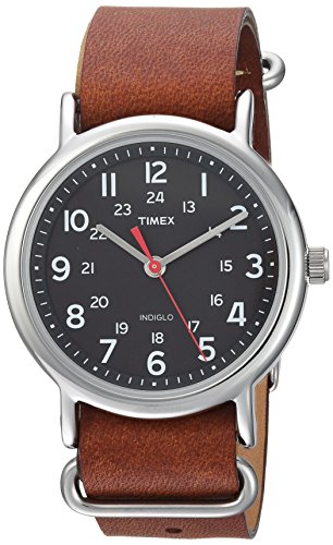 Brown Timex nalog Watch with Leather Strap