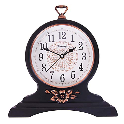 12 Inch Mantel Clock Silent and Non-Ticking
