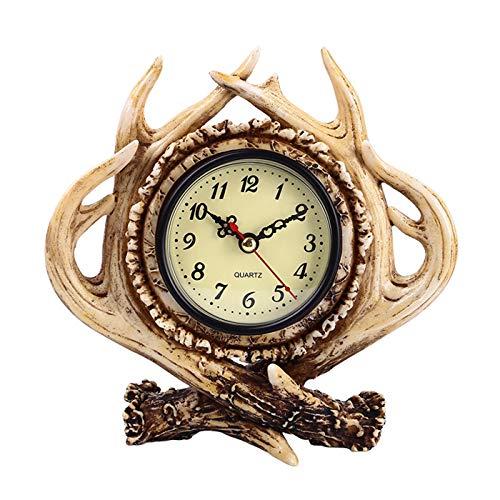 Diskary Table Decoration Antlers Desk Clock