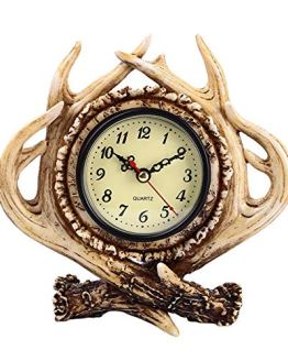 Diskary Table Decoration Antlers Desk Clock