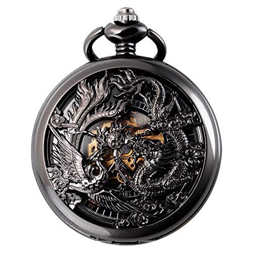 SIBOSUN Mechanical Pocket Watches Mens, Lucky Phoenix and Dragon