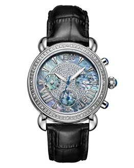 Carat Diamond Wrist Watch with Leather Bracelet JBW