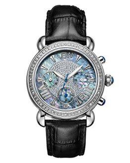 Carat Diamond Wrist Watch with Leather Bracelet JBW