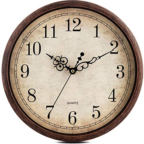 Kitchen Vintage Wall Clock Silent Non Ticking