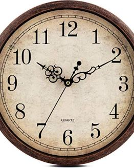 Kitchen Vintage Wall Clock Silent Non Ticking