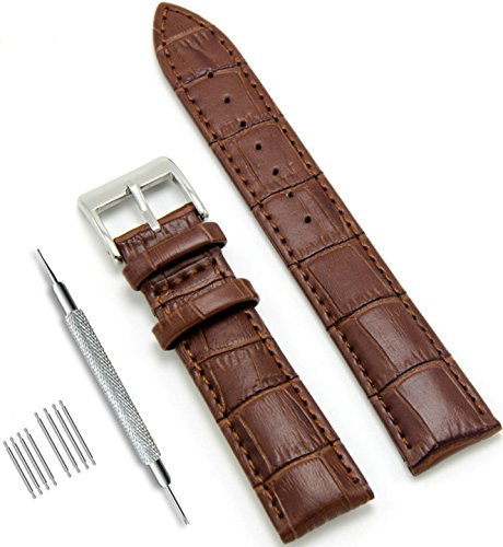 CIVO Genuine Leather Watch Bands Top Calf Grain Leather