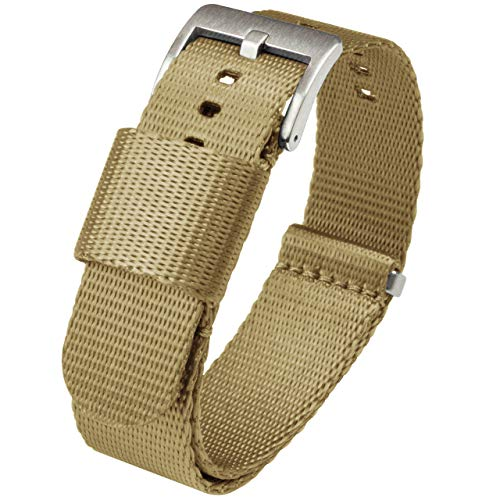 NATO Style Watch Strap Stainless Steel Buckl