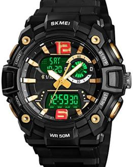 Mens Analog Digital Sports Watches Military Multifunction