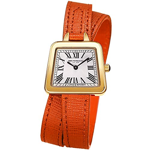 Bruno Magli Italian Leather Double Wrap Strap Watch