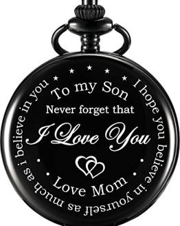 Hicarer Pocket Watch Gift for Son-Never Forget That, I Love You
