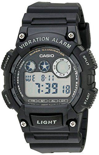 Casio Men's Super Illuminator Watch With Black Resin Band