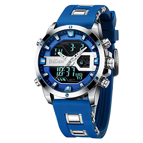 Digital LED Waterproof Sports Watches Chronograph Silicone Band