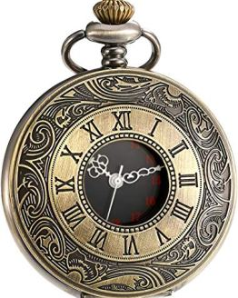 Vintage Pocket Watch Roman Numerals Scale Quartz