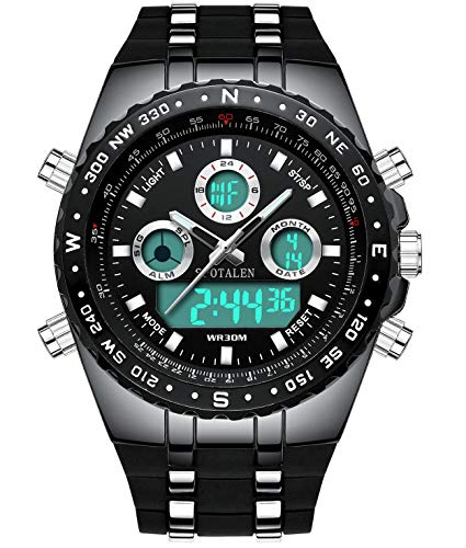 Waterproof Big Face Sports Watch for Men