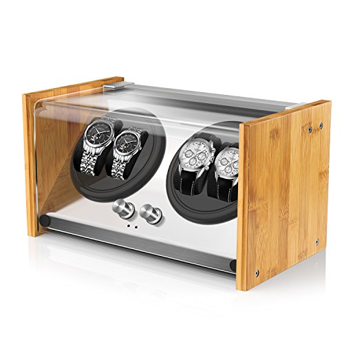 Bamboo Watch Winder 4 Automatic Watches