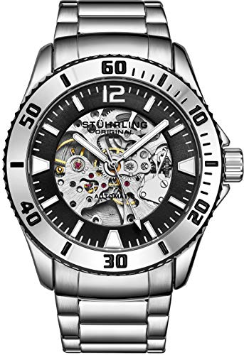 Stuhrling Original Mens Automatic Watch with Stainless Steel Bracelet