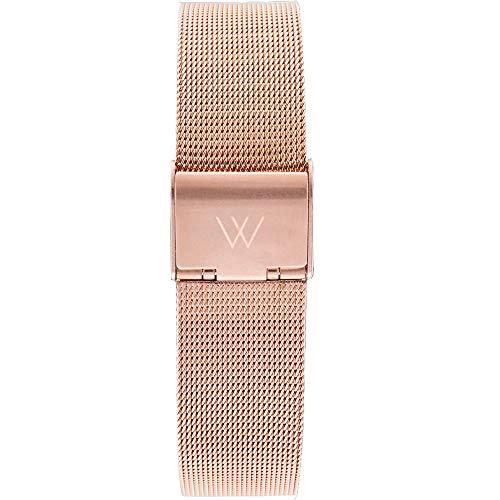 Rose Gold Metal Mesh 18mm Watch Band