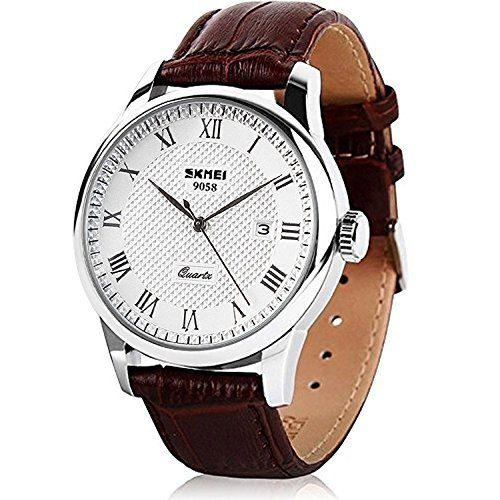 Mens Quartz Watch, Roman Numeral Business Casual Fashion