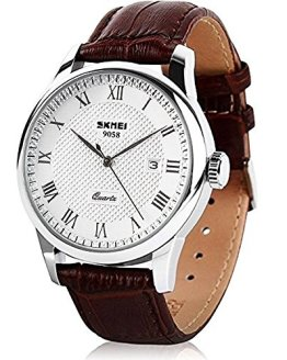 Mens Quartz Watch, Roman Numeral Business Casual Fashion