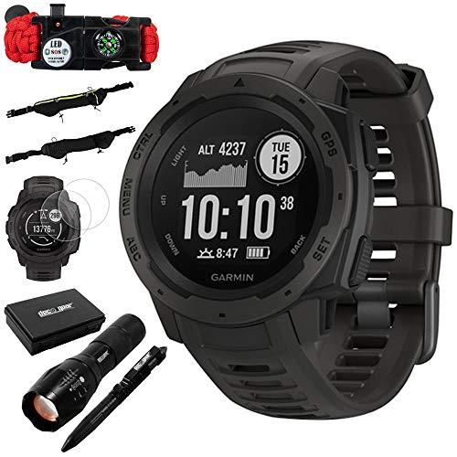 Garmin Instinct Rugged Outdoor Watch w/GPS Heart Rate Monitoring