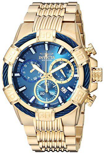 Chronograph Quartz Watch Invicta Gold Tone