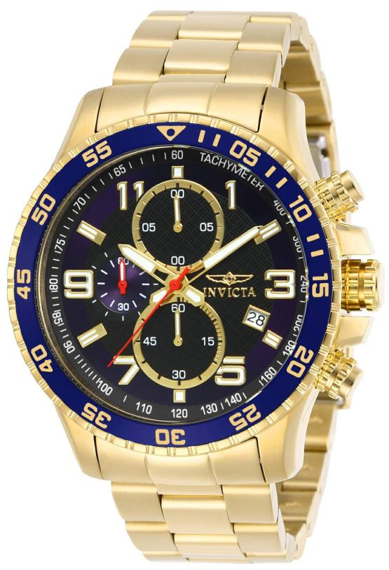 Invicta Men's Specialty 45mm Gold Tone Stainless Steel
