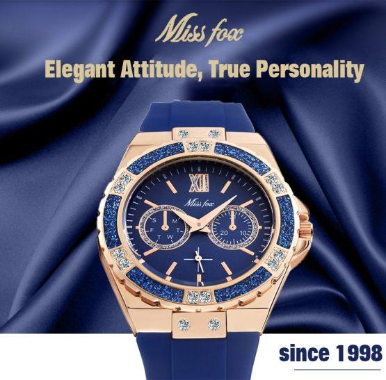 18K Gold Black Chronograph Guessing Diamond Watch