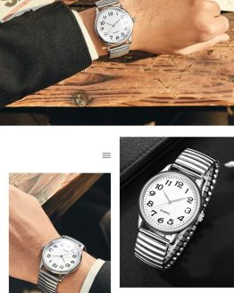 Wristwatches Couple Flexible Stretch Band