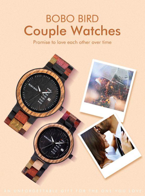 BOBO BIRD Couple Wooden Watch