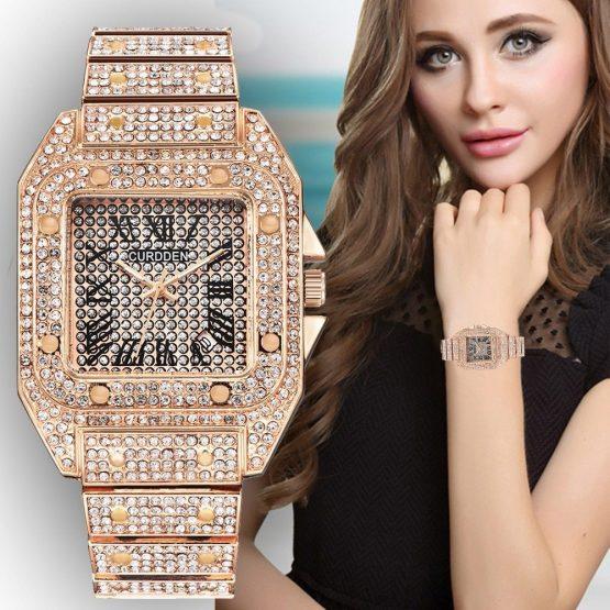 Rose Gold Watch Quartz Women Luxury