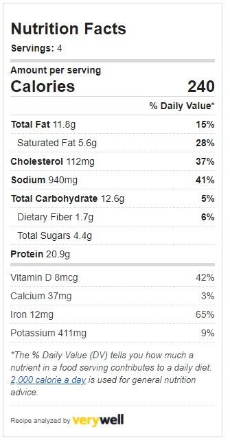 Nutrition for Beef Stir Fry