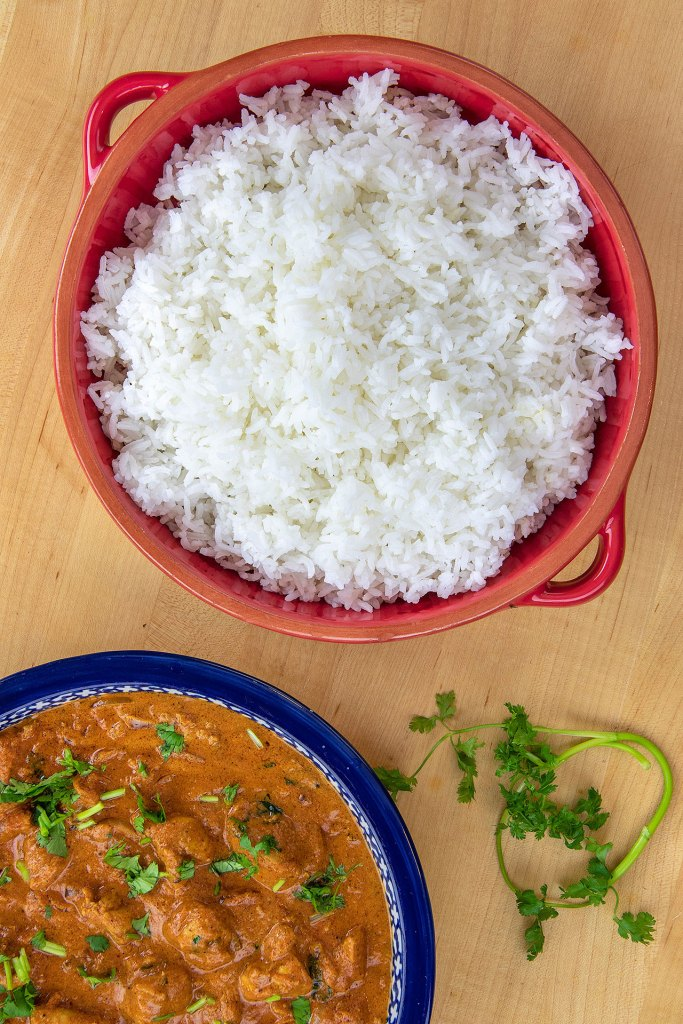 Serve Butter Chicken with Rice