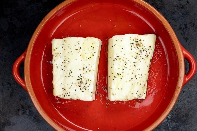 Filets on Baking Dish