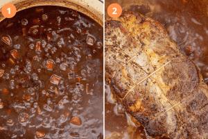 Deglaze the roast