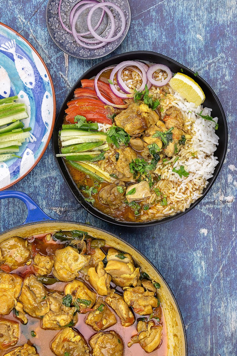 Chicken-with-Coconut-Curry-on-Rice