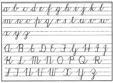 Ks2 Cursive Handwriting Scheme