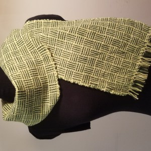 Handwoven Scarf, CormoX Yarn from the Flock