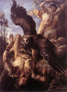 Prometheus Bound, by Jacob Jordaens