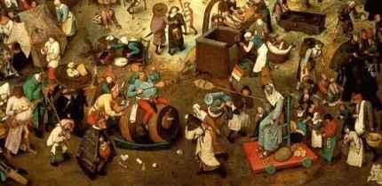 P. Brueghel l'Ancien: Le Combat de Carnaval et Carême (1559)